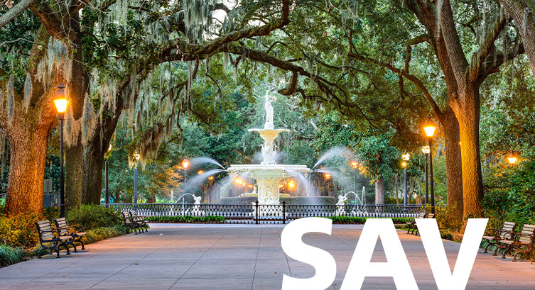 Savannah/Hilton Head airport code