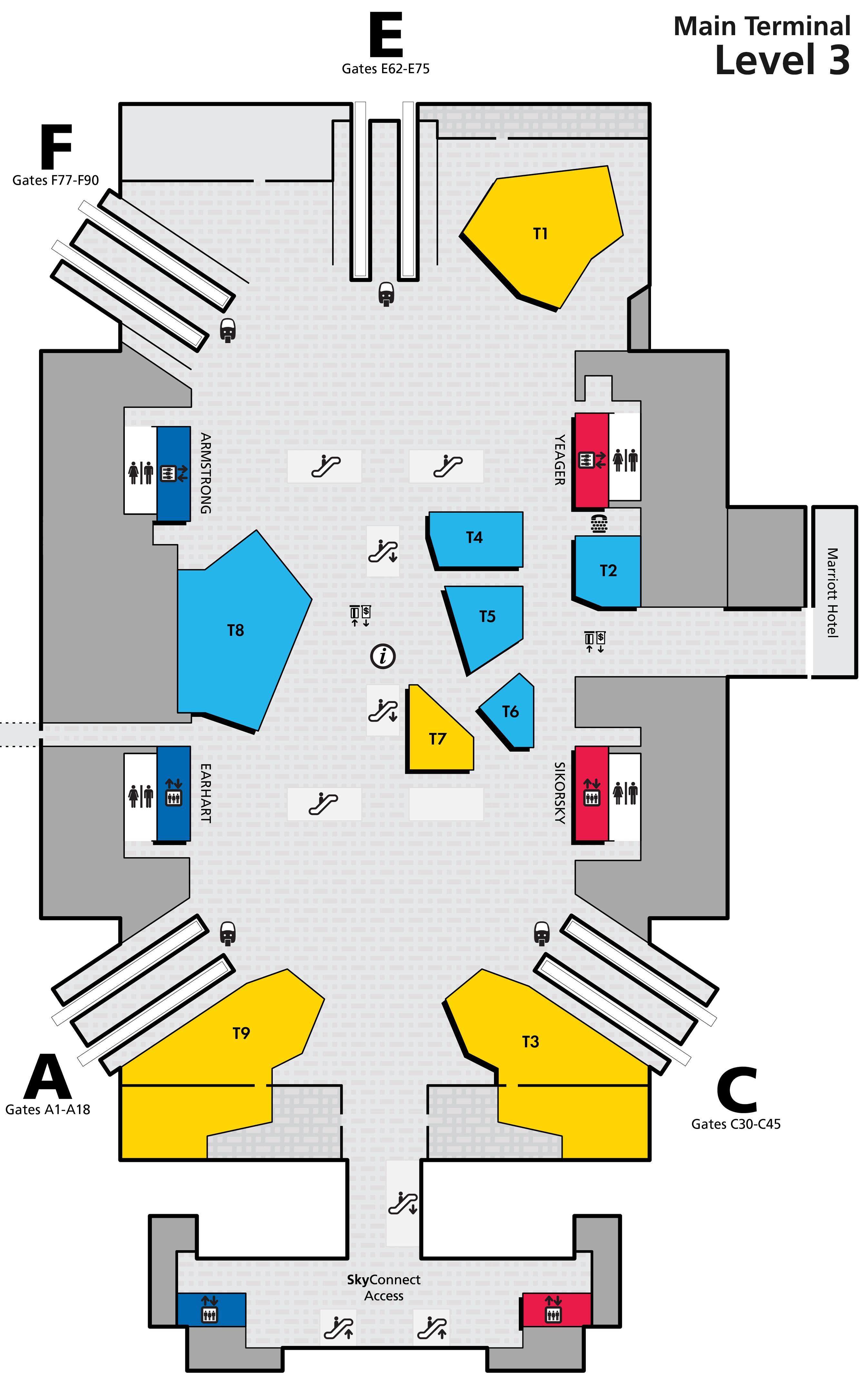Main Terminal Map - Level 3